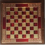 Chess red color with meander