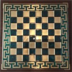 Chess blue color with meander