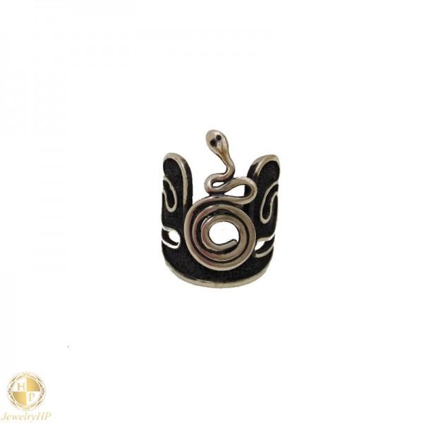 Handmade ring with snake
