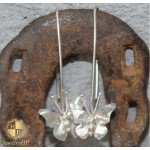 Earrings handmade pendants with butterflies by silver