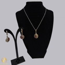 Handmade jewelry set with pomegranate