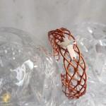 Handmade bracelet by copper with cross