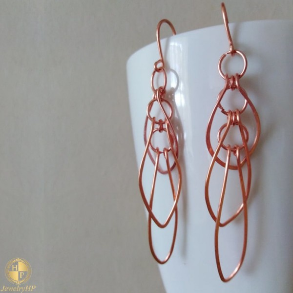 Handmade hanging earrings