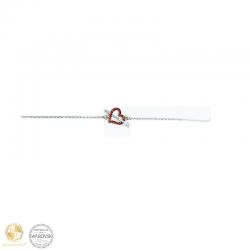 Bracelet with heart and arrow with Swarovski crystals