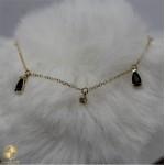 Female bracelet with black jewel