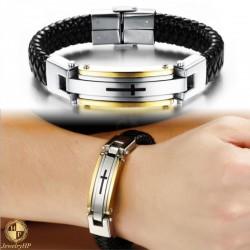 Male bracelet with cross