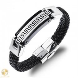 Male bracelet with meander