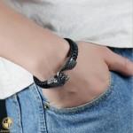 Male bracelet with snake