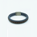 Leather male bracelet