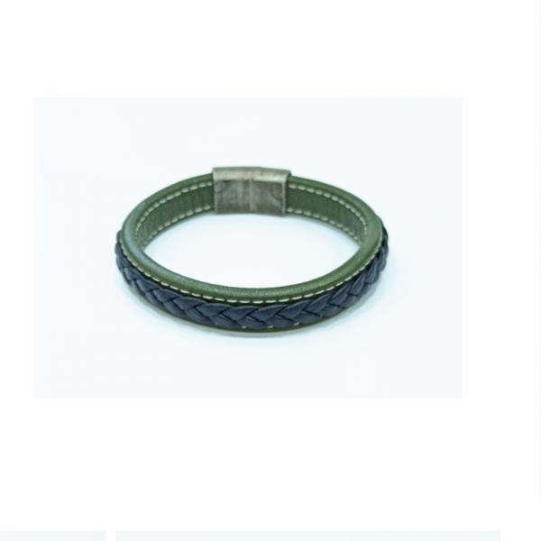 Leather male bracelet