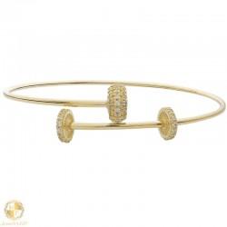 Woman gold handcuff bracelet