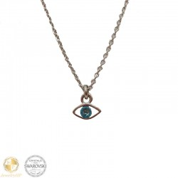 Necklace with eye and Swarovski crystal