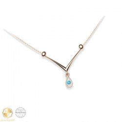 V necklace with Swarovski crystal