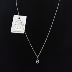 Silver necklace with Swarovski stone