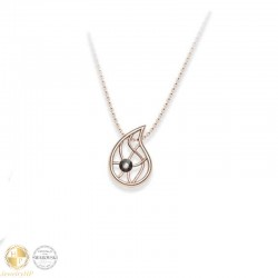 Rose gold necklace with Swarovski crystal