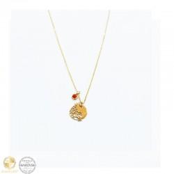 Necklace pomegranate with Swarovski crystals