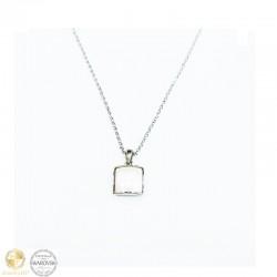 Necklace with white crystal by Swarovski