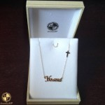 Gold necklace with name Uliana