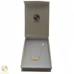 Gold necklace with name Bela