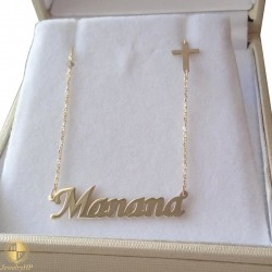 Gold necklace with name Manana