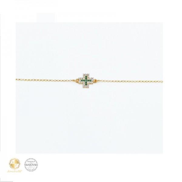 Cross bracelet with Swarovski crystals