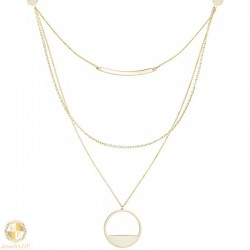 Gold necklace triple rows