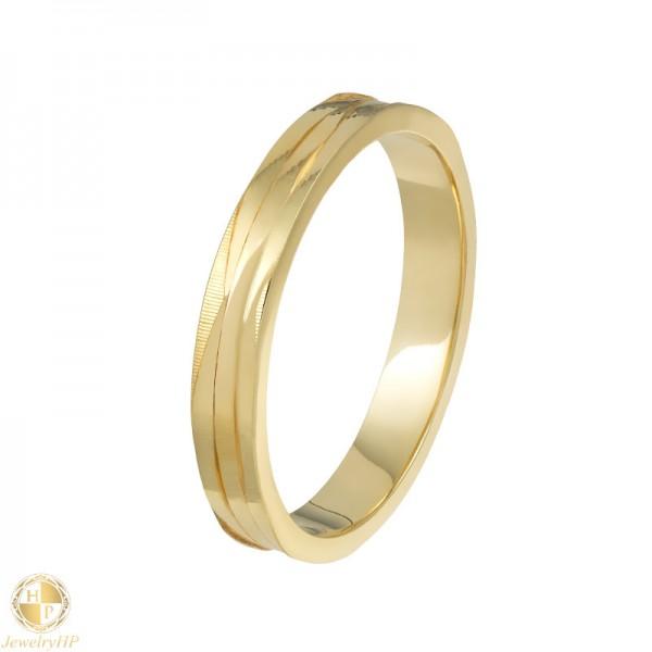 Gold pair wedding ring