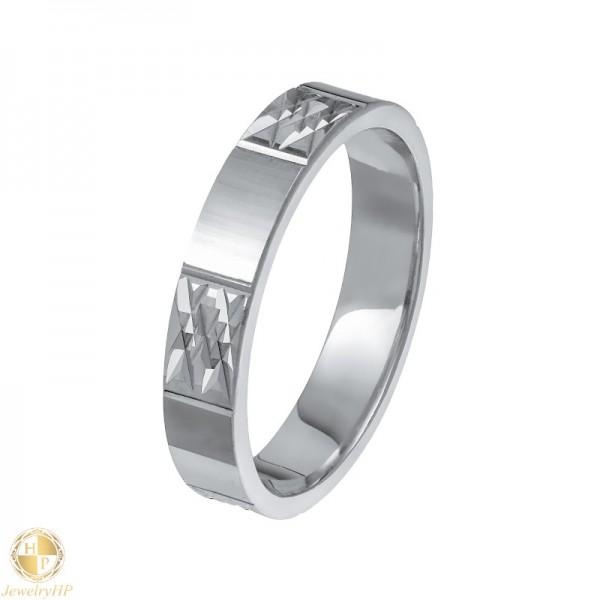 White gold pair wedding ring