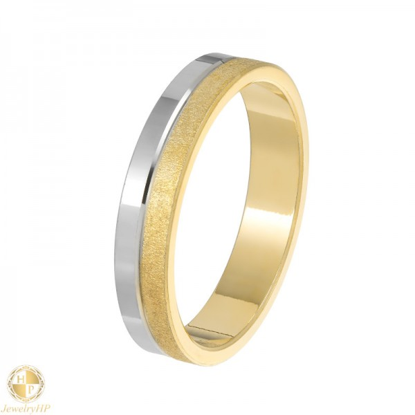 Double colored pair wedding ring
