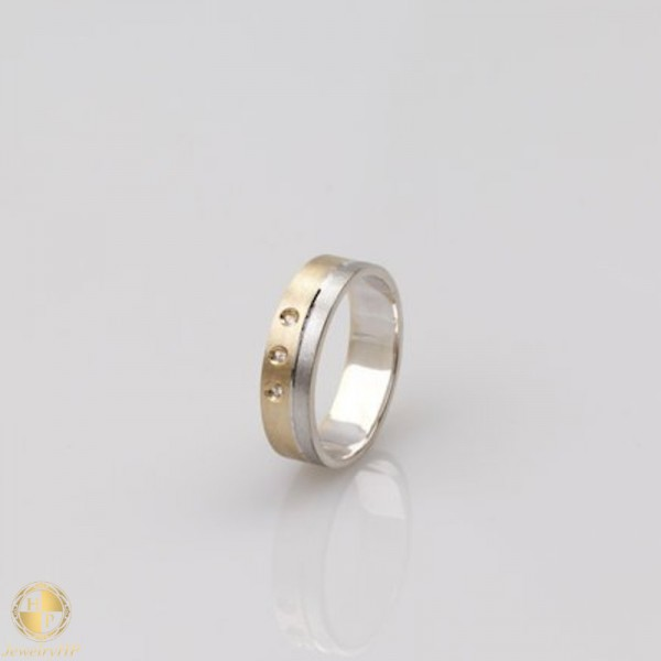 Double colored forged pair of wedding rings