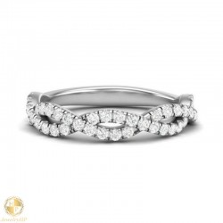 Diamond ring by white gold