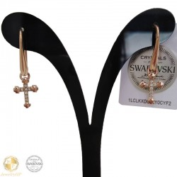 Earrings with cross