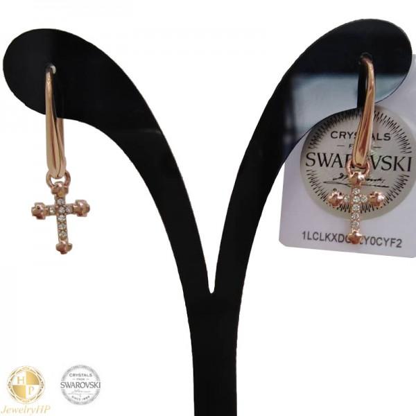 Earrings with cross