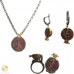 Pomegranate jewelry set