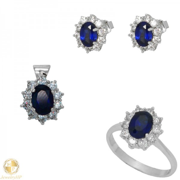 Jewelry set by white gold 410615W