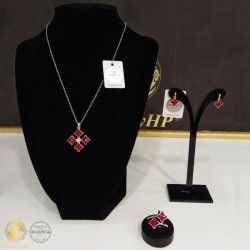 Jewelry set with Swarovski crystals