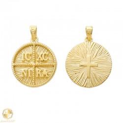 Double sided 14K amulet