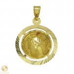 Golden child charm double-sided