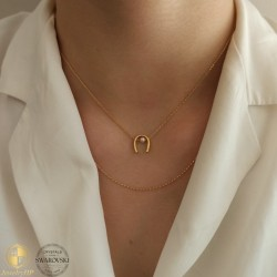 Lucky horseshoe with pearl by Swarovski