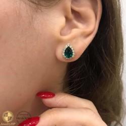 Earrings teardop with Swarovski crystals