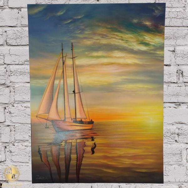 Sailboat in Sevan lake, by Համո