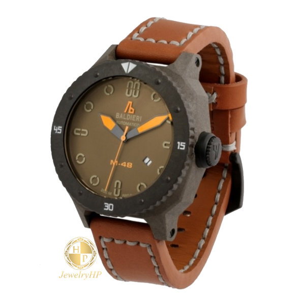 Male watch Baldieri brown color