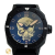 Male watch Baldieri black color with death's head