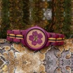 """Handmade wooden watch """"Forget-me-not"""""""