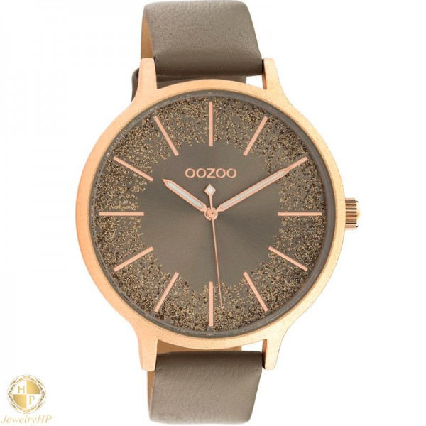 OOZOO woman watch with leather strap W4107C10567
