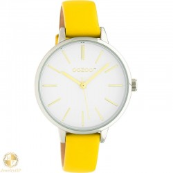 OOZOO kids watch with mustard leather strap W4107JR312