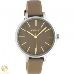 OOZOO kids watch with taupe leather strap W4107JR314