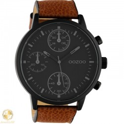 OOZOO man watch with brown leather strap W4107C10533