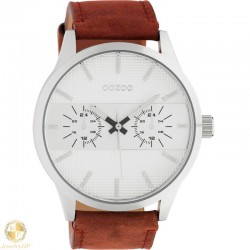 OOZOO man watch with leather strap W4107C10535