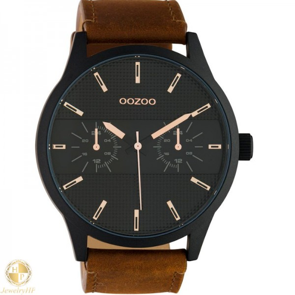OOZOO man watch with leather strap W4107C10538